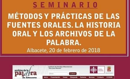MÉTODOS Y PRÁCTICAS DE LAS FUENTES ORALES. LA HISTORIA ORAL Y LOS ARCHIVOS DE LA PALABRA