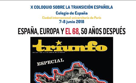 X COLOQUIO SOBRE LA TRANSICIÓN ESPAÑOLA.